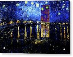 Layered 15 Van Gogh Acrylic Print