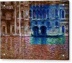 Layered 18 Monet Acrylic Print
