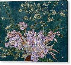 Acrylic Print featuring the digital art Layered 4 Van Gogh by David Bridburg