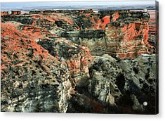 Acrylic Print featuring the photograph Layers In The Kansas Badlands by Kyle Findley