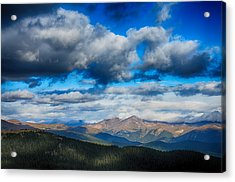 Layers Of Clouds On Mount Evans Acrylic Print