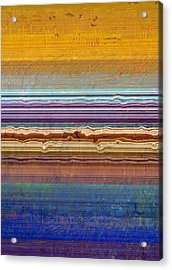 Layers With Orange And Blue Acrylic Print by Michelle Calkins