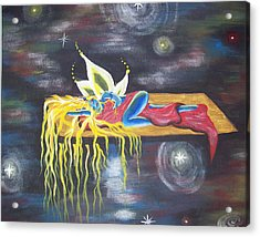 Laying  In Space Acrylic Print by Hollie Leffel