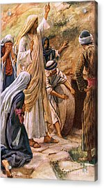 Lazarus, Come Forth Acrylic Print by Harold Copping