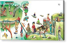 Lazinessland06 Acrylic Print by Kestutis Kasparavicius