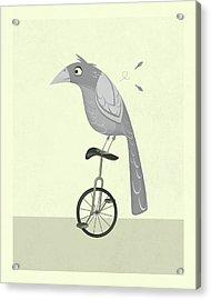 Lazy Bird Acrylic Print by Jazzberry Blue