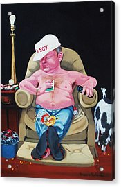 Acrylic Print featuring the painting Lazy Boy by Susan Roberts