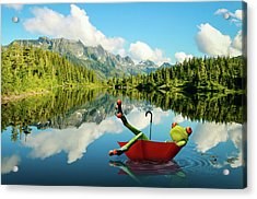 Acrylic Print featuring the digital art Lazy Days by Nathan Wright