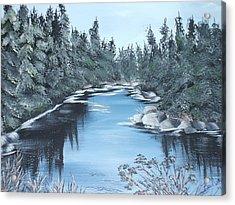 Lazy River Acrylic Print by Bev  Neely