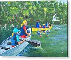 Lazy River Acrylic Print by Dennis Vebert
