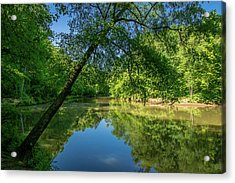 Lazy Summer Day On The River Acrylic Print