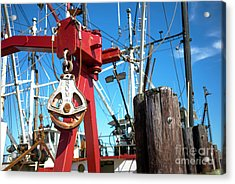 Acrylic Print featuring the photograph Lbi Boat Chain by John Rizzuto