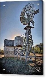 Lbj Homestead Windmill Acrylic Print