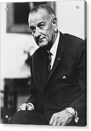 Lbj  Acrylic Print by War Is Hell Store
