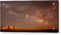 Lchee Rock Milky Way Panorama Acrylic Print