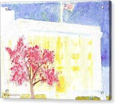 Lds Church Headquarters 2 Acrylic Print by Richard W Linford
