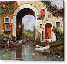 Le Barche Sotto L'arco Acrylic Print