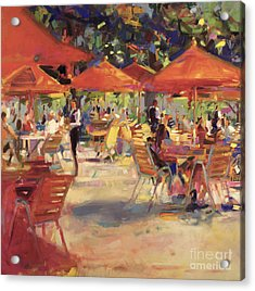 Le Cafe Du Jardin  Acrylic Print by Peter Graham