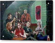 Le Chat Noir Acrylic Print by Jo King