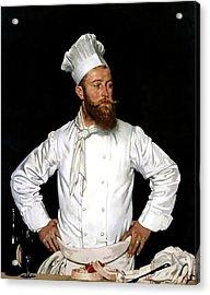 Le Chef De L'hotel Chatham Paris Acrylic Print