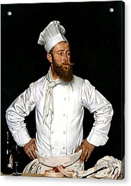 Le Chef De L'hotel Chatham Acrylic Print by William Orpen