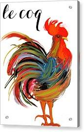 Le Coq Art Nouveau Rooster Acrylic Print