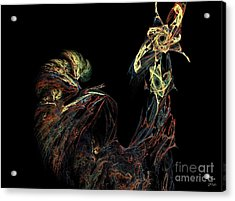 Le Coq Acrylic Print by Dom Creations