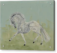 Le Gris Cheval Acrylic Print by Liz Pizzo