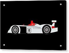 Le Mans Audi R8 Acrylic Print by Asbjorn Lonvig