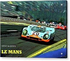 Le Mans, Steve Mcqueen Acrylic Print