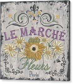 Le Marche Aux Fleurs 1 Acrylic Print