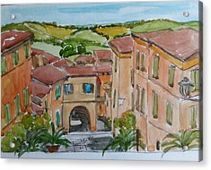 Le Marche, Italy Acrylic Print by Janet Butler
