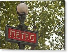 Le Metro Acrylic Print by Georgia Fowler