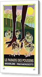 Le Paradis Des Poussins Acrylic Print