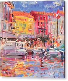 Le Port De St Tropez Acrylic Print by Peter Graham