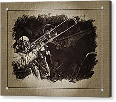 Le Roi Du Trombone  Acrylic Print