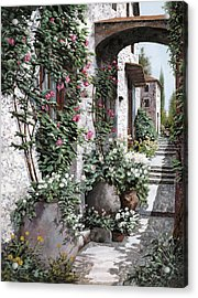 Le Rose Rampicanti Acrylic Print by Guido Borelli