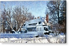 Leacock Museum In Winter Acrylic Print