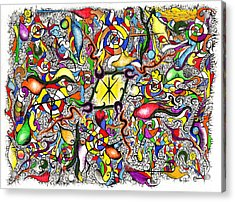 Lead Salad Acrylic Print by Nathaniel Hoffman