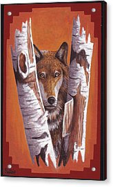 Leader Wolf Acrylic Print by Billie Bowles