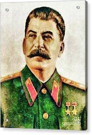 Leaders Of Wwii - Joseph Stalin Acrylic Print