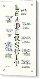 Leadership Acrylic Print by Judy Dodds