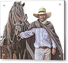 Acrylic Print featuring the photograph Leading To Competition Peruvian Horse by Toni Hopper
