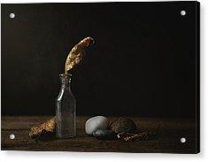 Leaf Bottle Rocks Acrylic Print