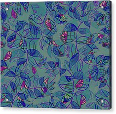 Acrylic Print featuring the painting Leaf Mesh by Linde Townsend