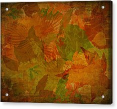 Leaf Texture And Background Acrylic Print
