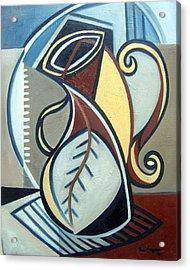 Leaf Vase Acrylic Print by Martel Chapman