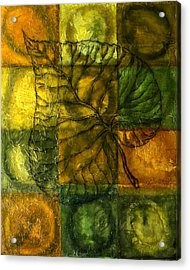 Leaf Whisper Acrylic Print by Leon Zernitsky