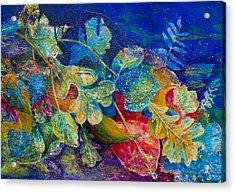Leafin An Imprint Acrylic Print by Jo-Anne Gazo-McKim