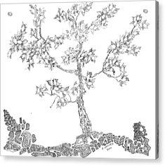 Leafy Jewels Acrylic Print by Regina Valluzzi